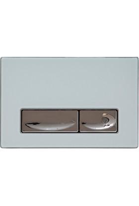 Creavit Design Beyaz Kumanda Paneli Solid Cam Metal