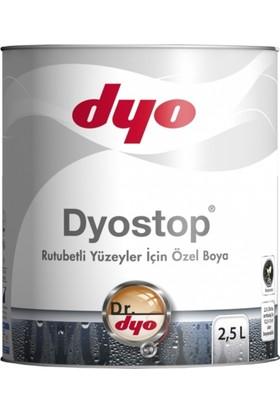 Dyo Dyostop Rutubetli Yüzeyler İçin Özel Boya 2,5Lt. Beyaz