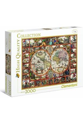 Clementoni 2000 Parça Puzzle - Magna Carta Mundi Harita