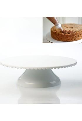 Elitparti Döner Başlıklı Pasta Sıvama Standı - Beyaz
