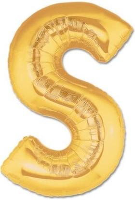 Elitparti Harf Folyo Balon Altın - Altın - S