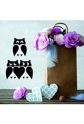 Modern Owls Duvar Sticker