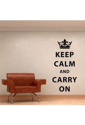 Keep Calm and Cary On Duvar Sticker