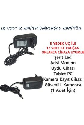BEWELL BA122 12 Volt 2 Amper Üniversal Adaptör 5 Yedek Uçlu