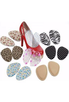 Desenli Topuklu Ayakkabı Kaydırmaz Tabanlık