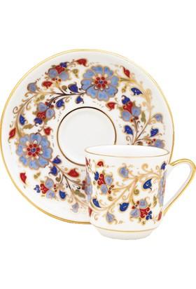 Güral Porselen El Dekoru Gözde 4 Parça 2 Kişilik Kahve Takımı