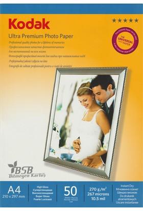 Kodak Ultra Premium Glossy,Parlak A4 270Gr/m² Fotoğraf Kağıdı 50 Yaprak