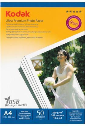 Kodak Ultra Premium Glossy,Parlak A4 260Gr/m² Fotoğraf Kağıdı 50 Yaprak