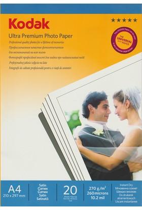 Kodak Ultra Premium Satin,Mat A4 270Gr/m² Fotoğraf Kağıdı 20 Yaprak