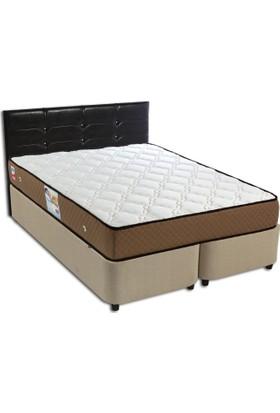 Derman Yatak Çift Kişilik Kumaş Baza + Başlık + Ortopedik Ultra Yatak 150X200
