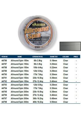 Okuma Allround Spin Misina 300m 0,30 mm