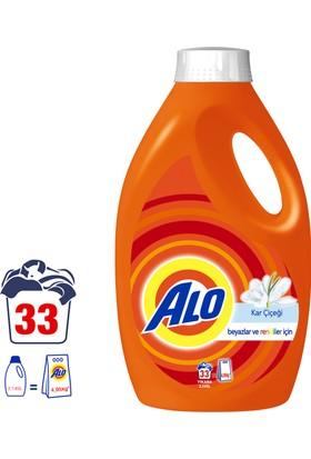 Alo Sıvı Çamaşır Deterjanı Kar Çiçeği 33 Yıkama Beyazlar ve Renkliler İçin