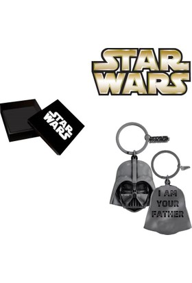 Sd Toys Darth Vader I'M Your Father Silver Plated Keychain