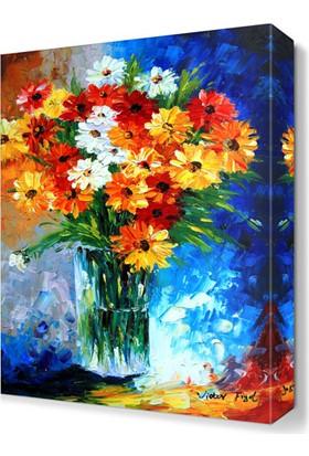 Dekor Sevgisi Papatyalar Canvas Tablo 45x30 cm