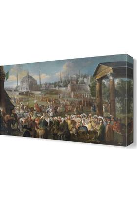 Dekor Sevgisi Jean Baptiste Osmanlı Canvas Tablo 45x30 cm