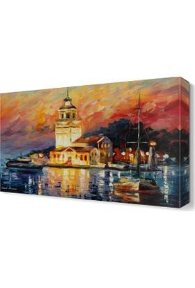 Dekor Sevgisi Kız Kulesi Tablosu 45x30 cm