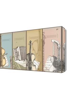 Dekor Sevgisi Entrumanlar Pop Art Tablo 45x30 cm