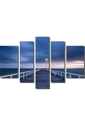 Dekor Sevgisi Köprü Deniz ve Gece Tablosu 84x135 cm