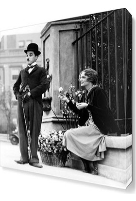 Dekor Sevgisi Charlie Chaplin City Lights Canvas Tablo 45x30 cm