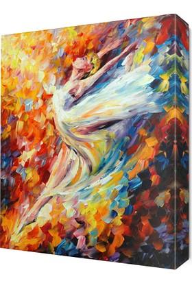 Dekor Sevgisi Güzel Dansçı Canvas Tablo 45x30 cm