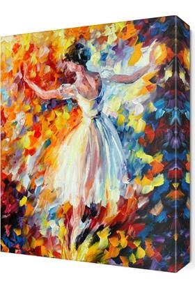 Dekor Sevgisi Beyazlı Balerin Canvas Tablo 45x30 cm
