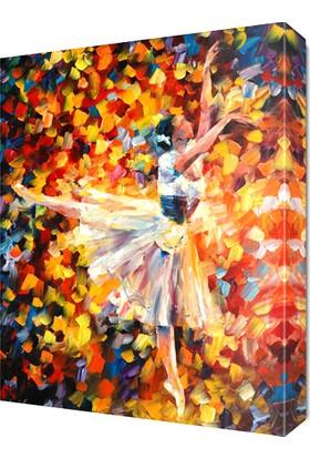 Dekor Sevgisi Güzel Balerin Canvas Tablo 45x30 cm