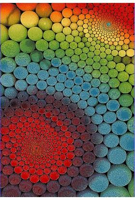 Odeon Renkli Modern Halı 160X230 Cm, Yuvarlak Daıre Daireler, Odeon