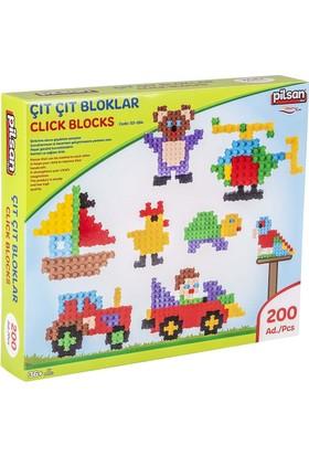 Pilsan Çıt Çıt Bloklar Kutulu 200 Parça