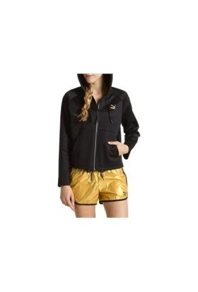 Puma Mesh Hooded Track Jacket Black