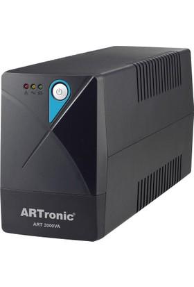 Artronıc 2000Va, Line Interactive Ups, 2 Adet 12V9Ah Akü, 5 Pc 5 Dk, 1 Pc 45 Dk. Art-2000Va