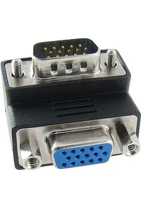 Dark Vga Erkek Vga Dişi 90° Dirsek Dönüştürücü Dk-Hd-Avgax90