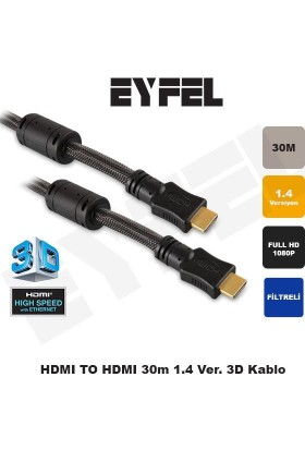 Eyfel Eyfel Hdtv130 Hdmı To Hdmı 30M. 1.4 Ver. Kablo Hdtv130