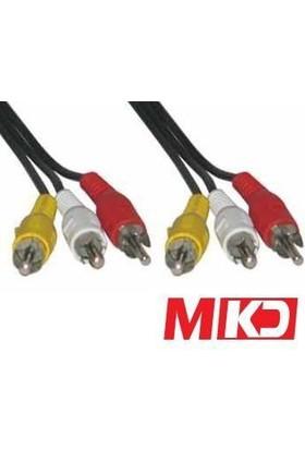 Mkd Mk-Rca22 Video Stereo Ses Rca-Rca ( Vcd Kablosu ) Kablo 1.8 Metre Mk-Rca22