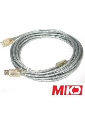 Mkd Mk-Us03 Usb 2.0 Şeffaf Printer Kablo 5 Metre Mk-Us03