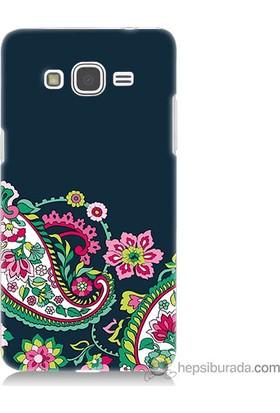 Bordo Samsung Galaxy Grand Prime Desen Baskılı Silikon Kapak Kılıf
