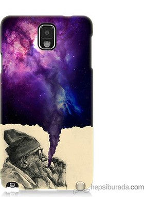 Bordo Samsung Galaxy Note 3 Hayal Gücü Baskılı Silikon Kapak Kılıf