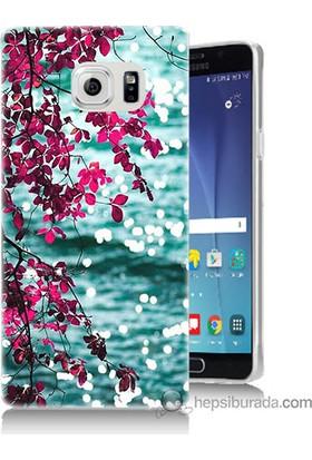 Bordo Samsung Galaxy Note 5 Manzara Baskılı Silikon Kapak Kılıf