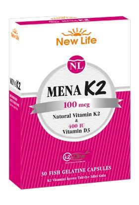 New Life Mena K2 100 mcg 30 Kapsül