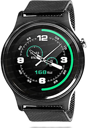 Dark SW08 Smart Watch IOS ve Android Uyumlu Siyah Akıllı Saat (Siyah Metal Kayış)(DK-AC-SW08B)