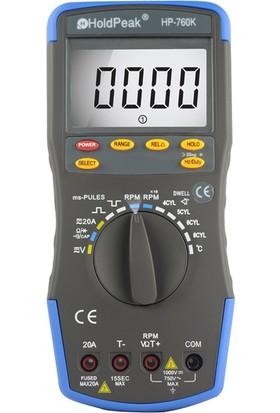 Holdpeak 760K Dijital Motor Analizörü Takometre Auto Range