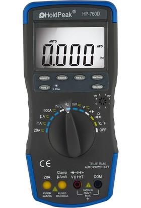 Holdpeak 760D Otomatik Ölçü Aleti True RMS Multimetre
