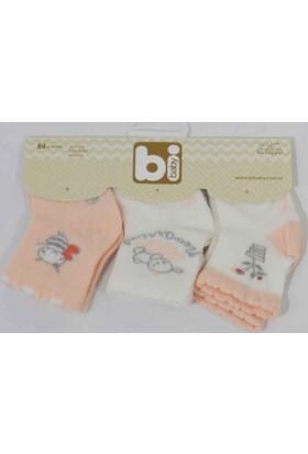 Bibaby 68064 Flowers 3 lü Çorap Set