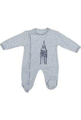 Bibaby 60168 London Bebek Yandan Çıtçıtlı Tulum