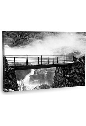 Fotografyabaskı Şelalenin Üzerindeki Köprü Tablosu 75 Cm X 50 Cm Kanvas Tablo Baskı