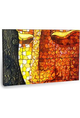 Fotografyabaskı Art Buddha Stained Glass Tablosu 75 Cm X 50 Cm Kanvas Tablo Baskı