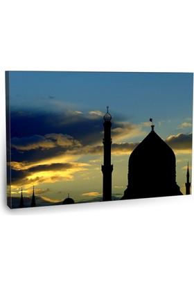Fotografyabaskı Camii Silüeti Tablosu 75 Cm X 50 Cm Kanvas Tablo Baskı