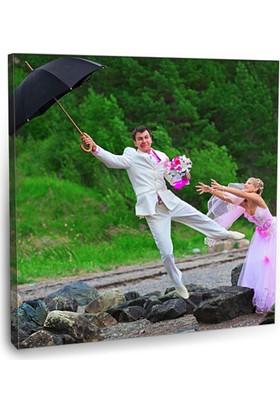 Fotografyabaskı Evlilik Şakası Tablo 70 Cm X 70 Cm Kanvas Tablo Baskı