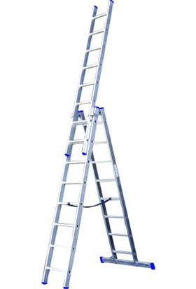 EROL Teknik A Tipi Alüminyum Tek Sürgülü Merdiven 3 Metre