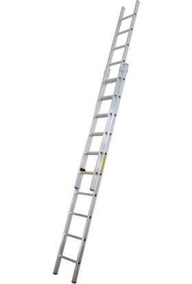 EROL Teknik 2 Açılımlı Alüminyum Sürgülü Merdiven 2x3 Metre