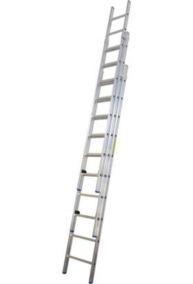 EROL Teknik 3 Açılımlı Alüminyum Sürgülü Merdiven 3x2.5 Metre